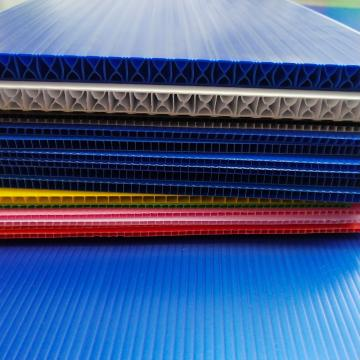 Coloured Polypropylene PP Plastic Twin Wall Hollow Fluted Cardboard Sheets/Plastic Corrugated Board