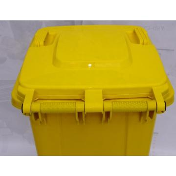 Multi-colors Big Size Garbage Container Plastic Dustbin with wheels