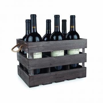 Cheap design custom natural vintage wood wine crate 4 bottles carrying case