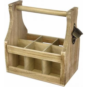 Farmhouse Rustic French Country Vintage Wooden Wine Bottle Crate
