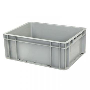 Nestable and Stackable Plastic Turnover Container Attached Lid PP Logistics Box Solid Moving Crates