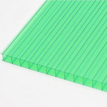 clear and colored polycarbonate hollow sheet for roofing with 4mm to 20mm thickness