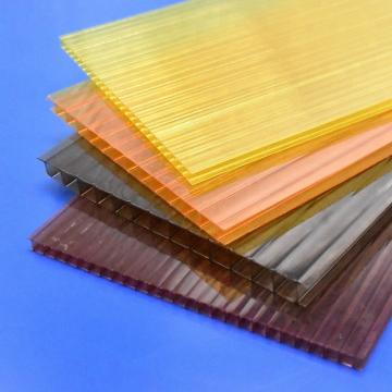 8mm ten year warranty lexan three layers plastic polycarbonate hollow panels sheet
