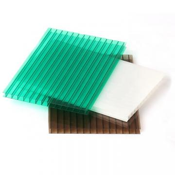 UV Protection Polycarbonate 6mm Twin-Wall PC Hollow Sheet for Greenhouse