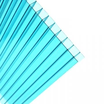 Green Twin-Wall Polycarbonate PC Hollow Sheet with RoHS
