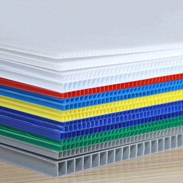 Core Flute Board 3mm 450gsm Blue Yellow Red Color Corrugated Plastic Hollow Eco-friendly Recyclable Pp Correx Sheet #2 image