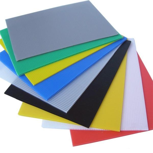 Coloured Polypropylene PP Plastic Twin Wall Hollow Fluted Cardboard Sheets/Plastic Corrugated Board #3 image