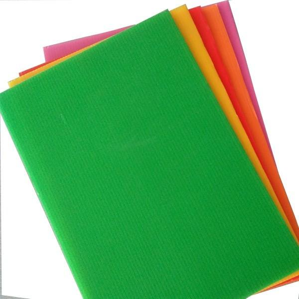 Coloured Polypropylene PP Plastic Twin Wall Hollow Fluted Cardboard Sheets/Plastic Corrugated Board #1 image