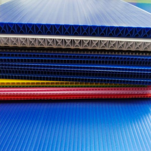 Coloured Polypropylene PP Plastic Twin Wall Hollow Fluted Cardboard Sheets/Plastic Corrugated Board #2 image