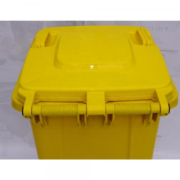 Multi-colors Big Size Garbage Container Plastic Dustbin with wheels #2 image