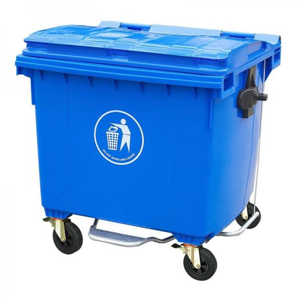 Park Usage Mobile PE Plastic with Lid Garbage Container #2 image