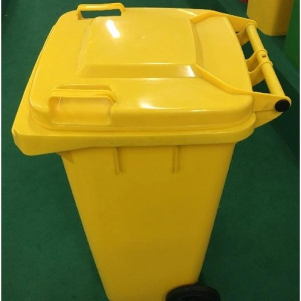 Indoor and Outdoor 40L Plastic Garbage Container with Lid #1 image