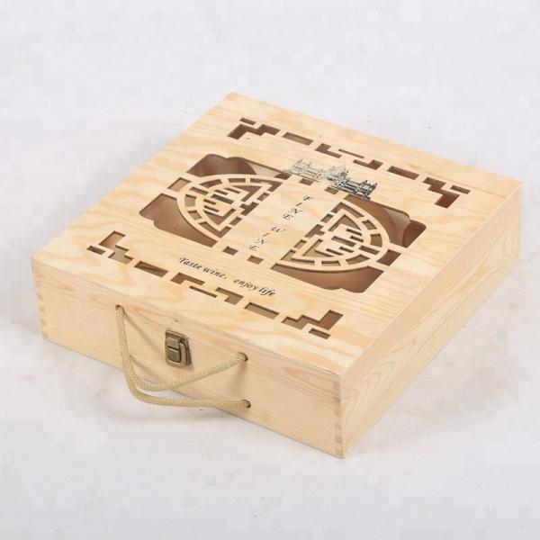 Vintage cheap wooden wine bottle crates for sale #1 image