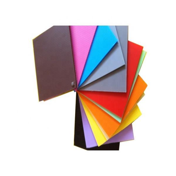 corrugated plastic sheets 4x8 hollow polypropylene correx fluted plastic sheet #3 image