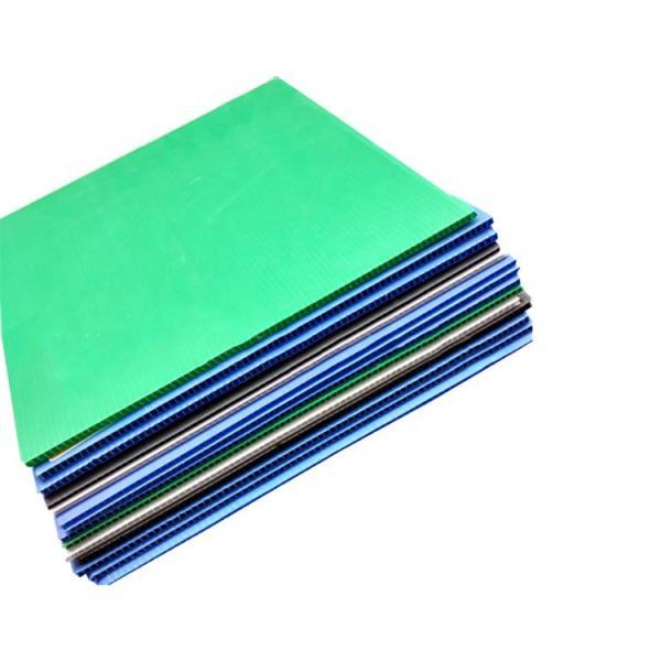Uv Resistance Polypropylene Danpla PP Hollow 4x8 Plastic Corrugated Sheets For Construction #1 image