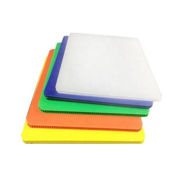 PP Hollow Sheets / PP Corrugated Plastic Board with Corona Treament for UV Printing #1 image
