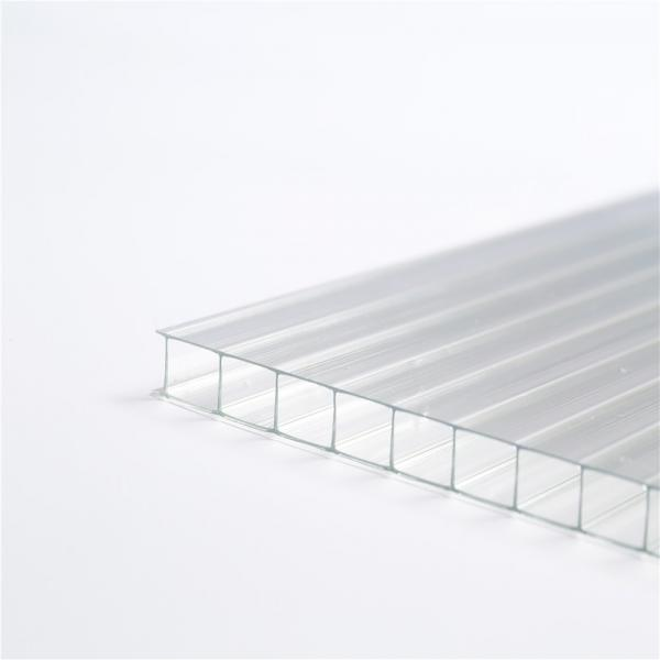 8mm ten year warranty lexan three layers plastic polycarbonate hollow panels sheet #3 image