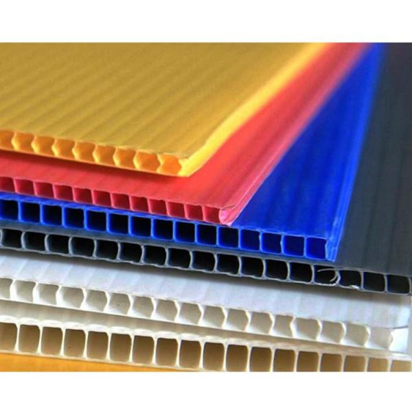 Factory 2-12mm Custom White/Yellow/Blue/Black Corflute PP Hollow Board/Corrugated Plastic Sheet #2 image