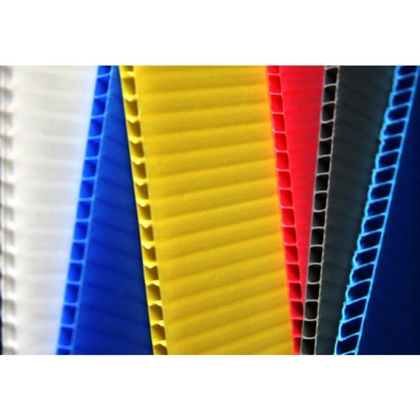 Best price 4mm white PP hollow board,corrugated plastic #3 image