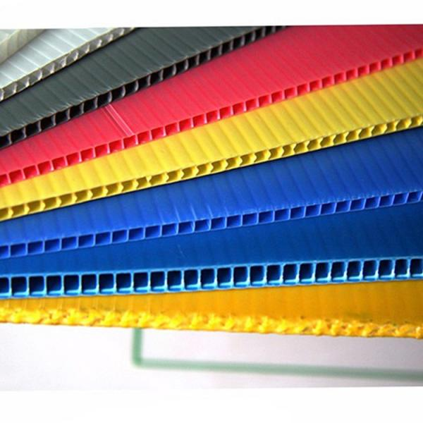 Factory 2-12mm Custom White/Yellow/Blue/Black Corflute PP Hollow Board/Corrugated Plastic Sheet #3 image