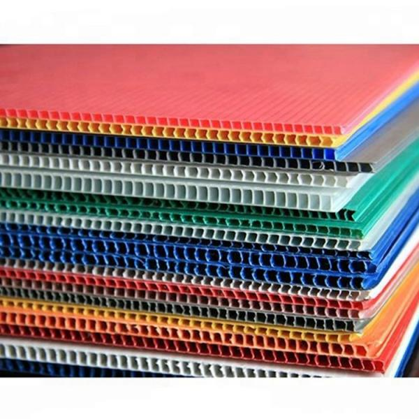 Best price 4mm white PP hollow board,corrugated plastic #2 image