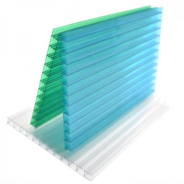 Outdoor Yard PP Sheet 2-8mm Plastic Ribbed Hollow Corrugated Sign Sheet #1 image