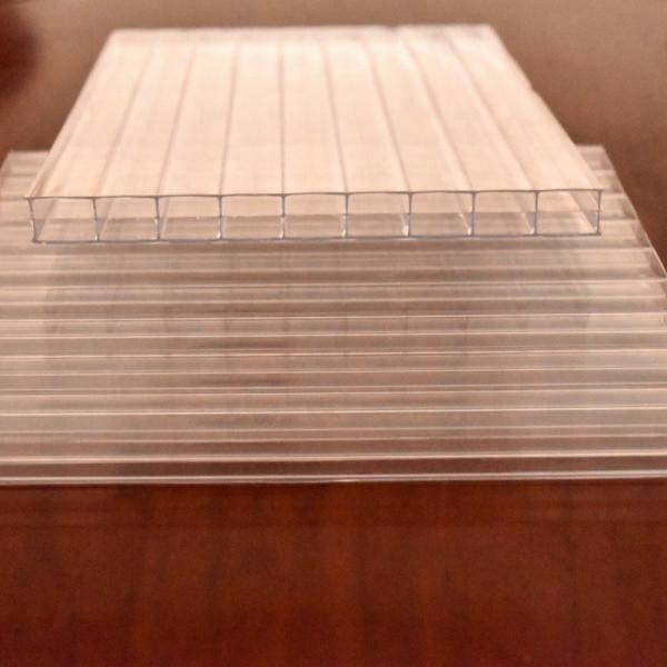 Grade a 4mm/5mm/6mm/8mm/10mm Twin Wall Polycarbonate Hollow Sheet #1 image