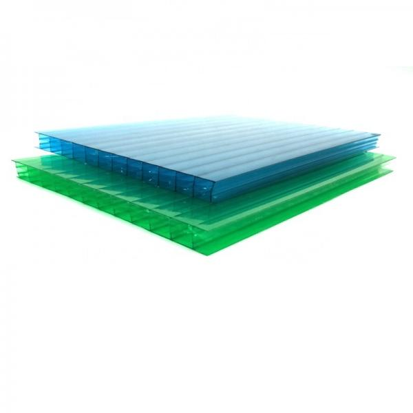 Durable Plastic Material Polycarbonate Roofing PC Hollow Honeycomb Sheet #1 image