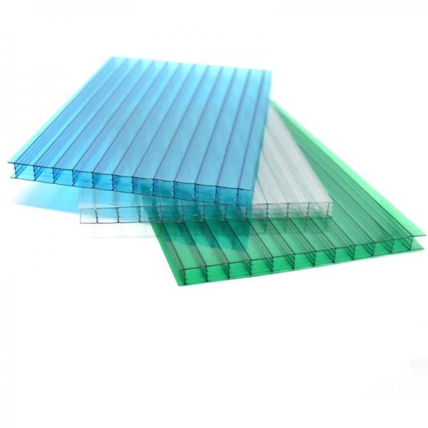 OEM Customized 16/18mm 3X-Wall Polycarbonate Hollow Sheets #3 image