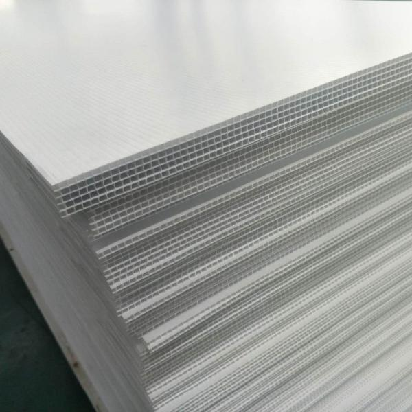 4X8 Corrugated PP Plastic White Polypropylene Hollow Sheet for Transfer Box #1 image