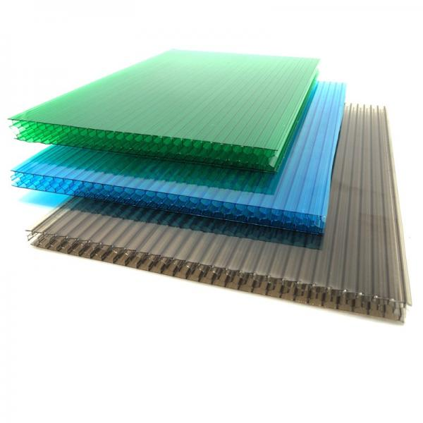 Free Sample Heat Insulation Fireproof Plastic PVC Hollow Roofing Sheet for Factory #1 image
